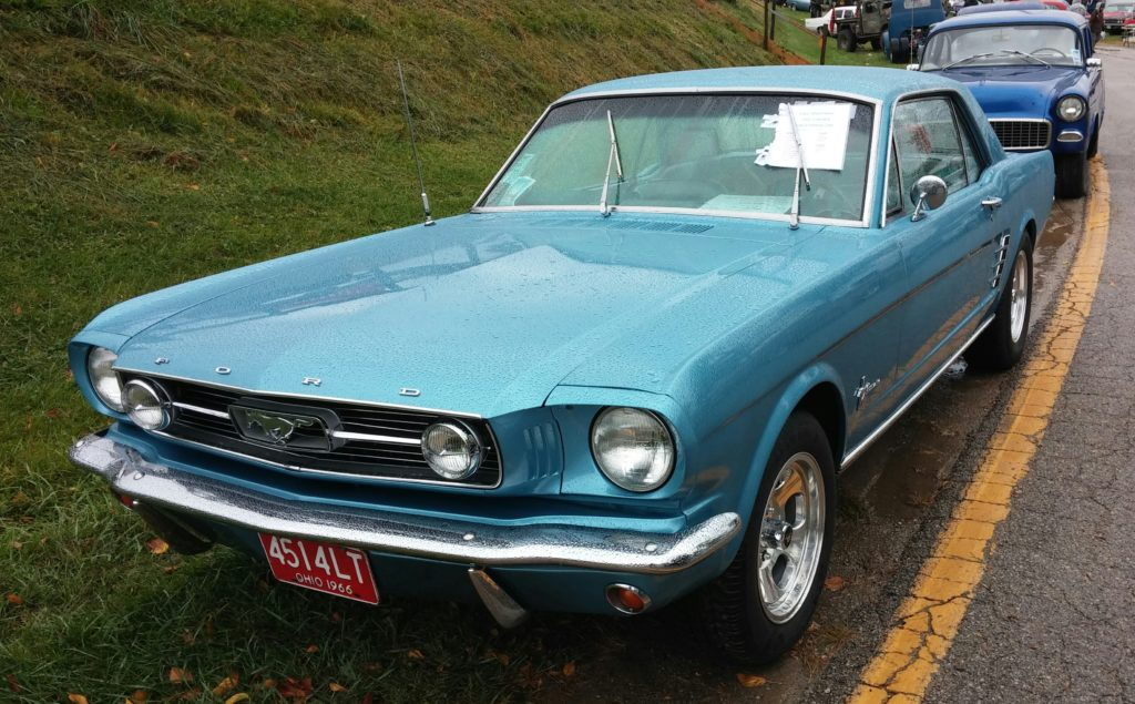 This Mustang was for sale. The price was unexpectedly low, so I snapped a photo to share with any friends in the market for a classic.