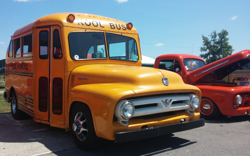 The Kool Bus! I took this pic for my son, who loves riding the actual school bus every day.